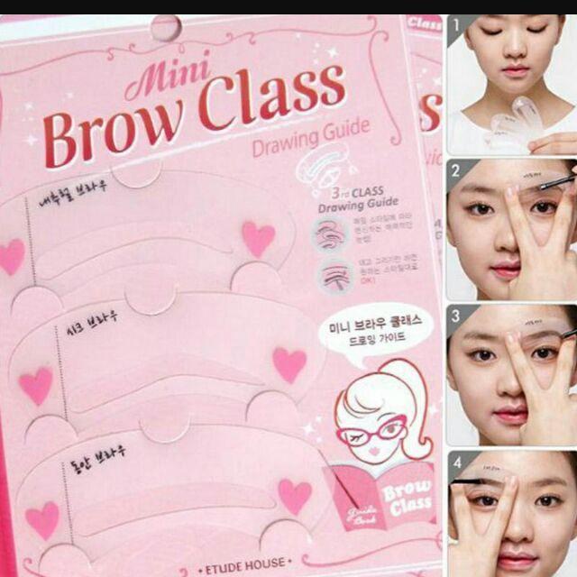 Etude House Mini Brow Class Drawing Guide Eyebrow Shopee Malaysia