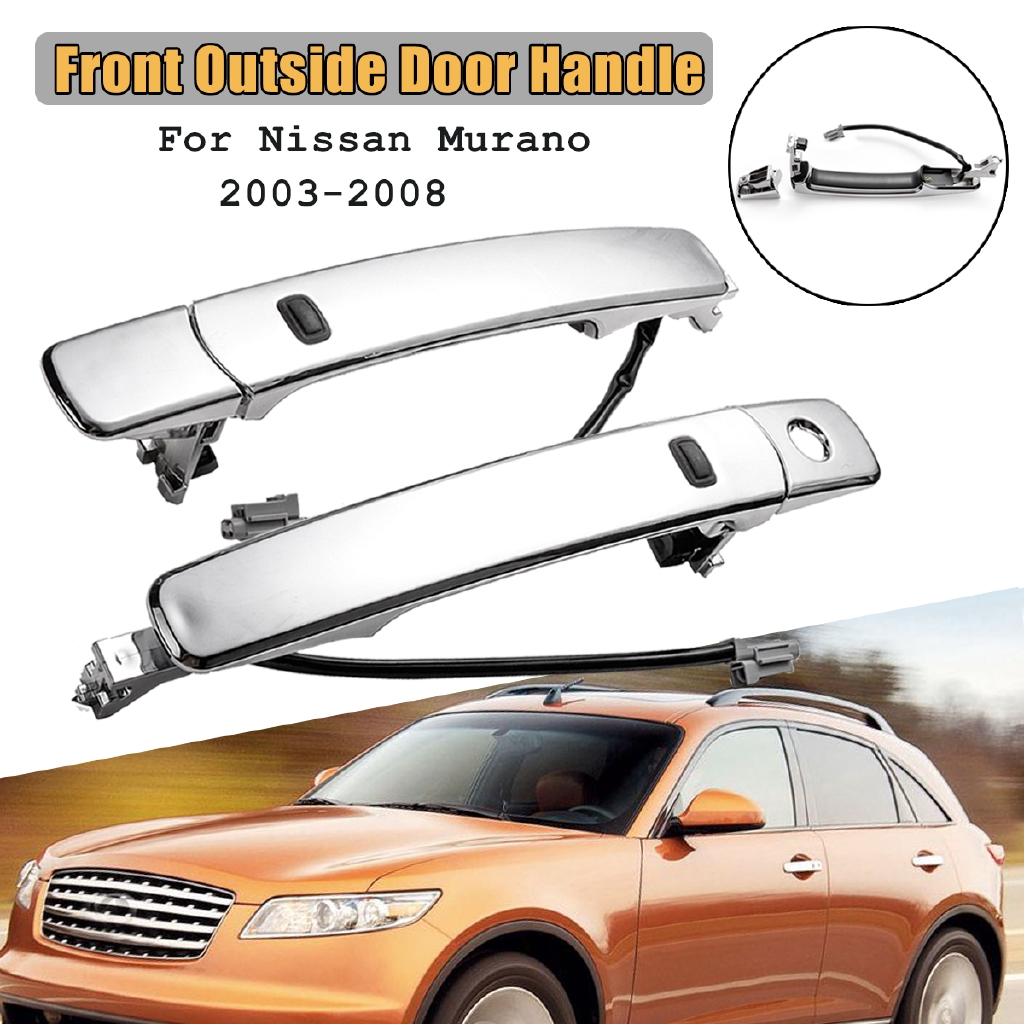 Fit 03-07 Nissan Murano Front Driver Outside Chrome Door Handle Smart Entry FAST