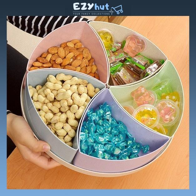 5 in 1 Nuts Fruit Candy Box Sweet Biscuit Food Container Storage Bekas Kuih Biskut Gula gula Biskut Raya Kuih Raya