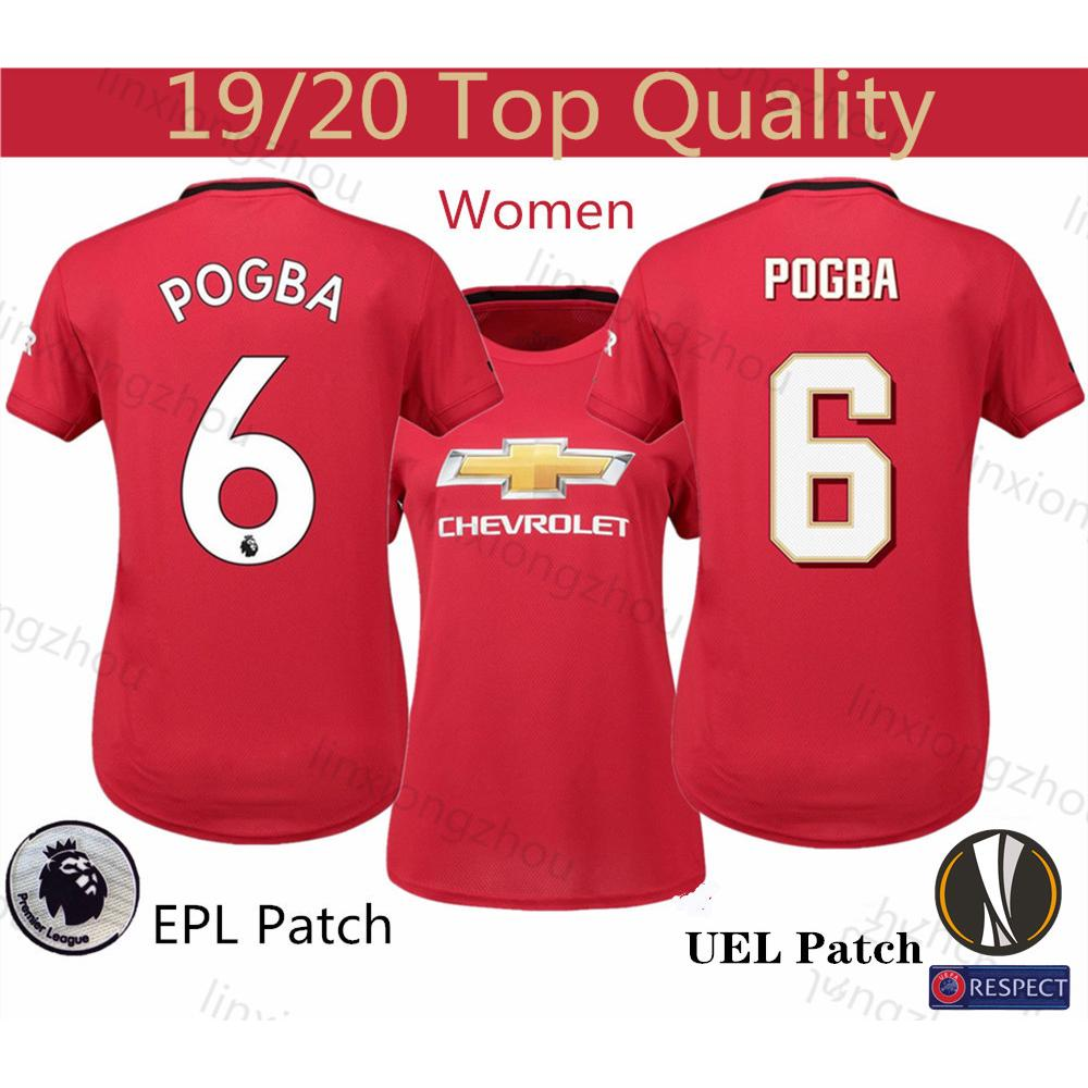 Top Quality 19 20 Manchester United Woman Home Jersey Football Jersey