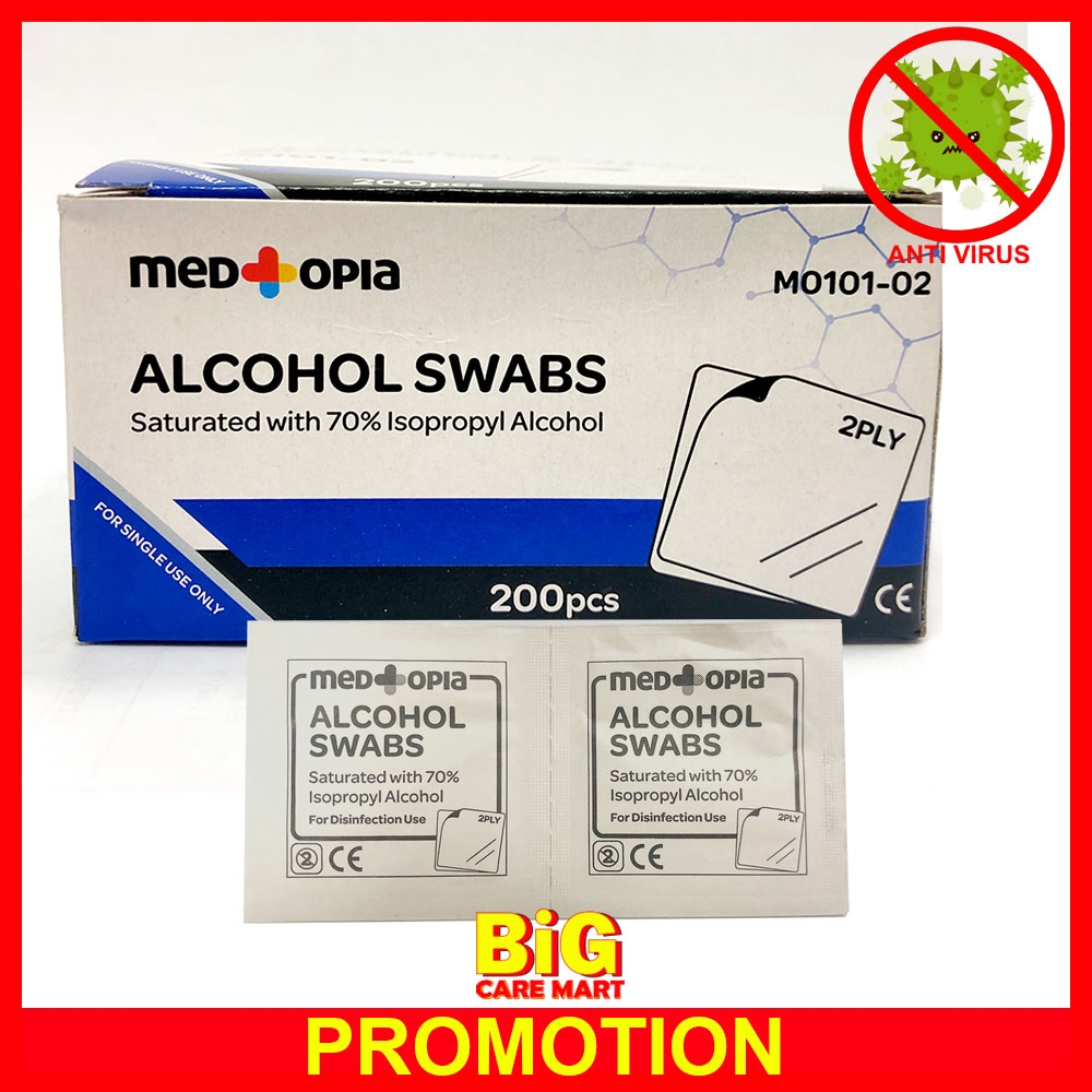 Alcohol Swab Cotton with Alcohol 200's