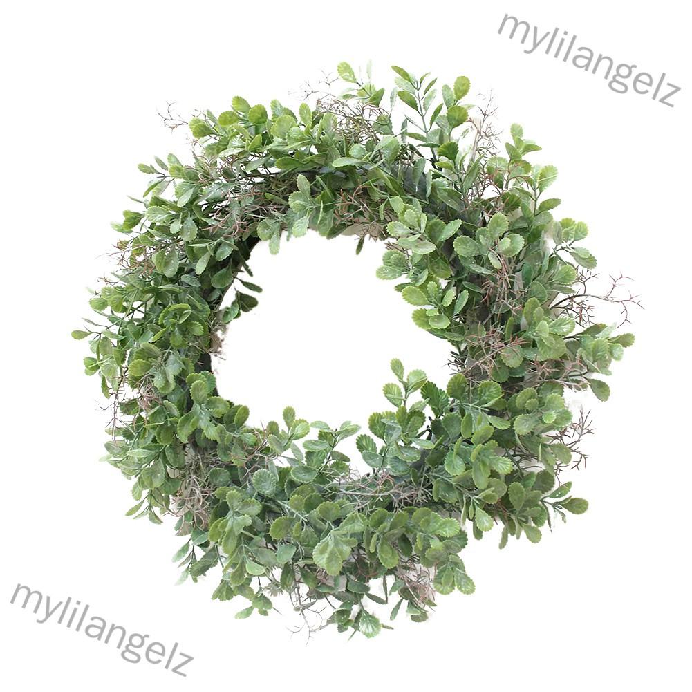 Mylilangelz 12.5inch Green Corallina Officinalis Shape Wreath for Door Wall Window Party Decor