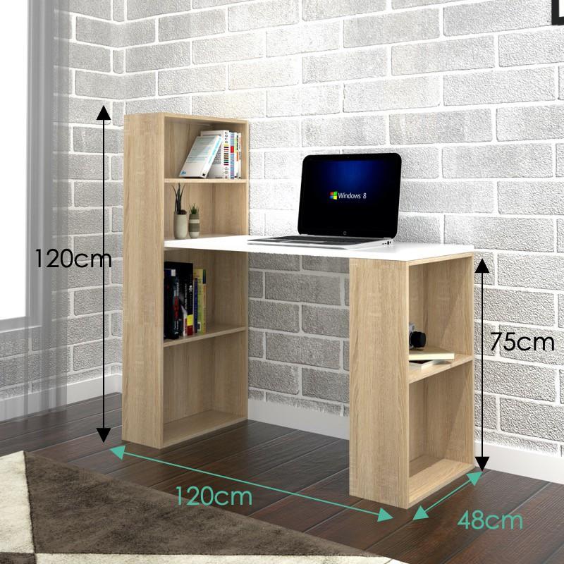 Furniture Direct VISBY space saver study desk with book shelf/ meja belajar