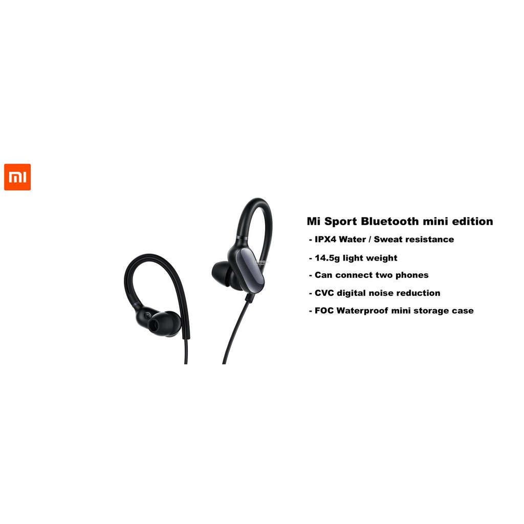 6d29de9c169 ProductImage. Sold Out. Original XIAOMI Mi Sport Bluetooth - Stereo  Ear-hook Earphone Headset