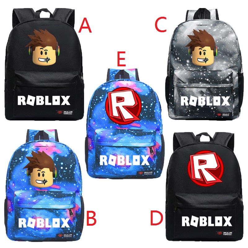Hot Roblox Backpack Kids School Bag Students Boys Bookbag Handbags Travelbag New