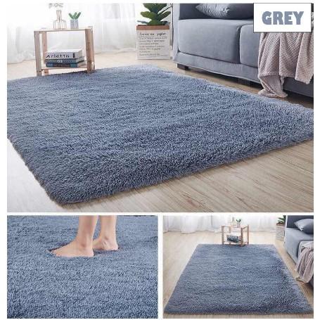 XXL/XL/L/M Carpet Bulu [ Ready Stock ] for Home Deco   Soft Floor Mat Karpet Lembut - Fluffy Anti-Slip Carpet Shaggy / Rug