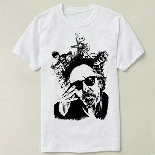 3ff831d5ee76 ProductImage. ProductImage. Tim Burton Jack's Nightmare Tee Short Sleeve  Cotton T-shirt Women and Men