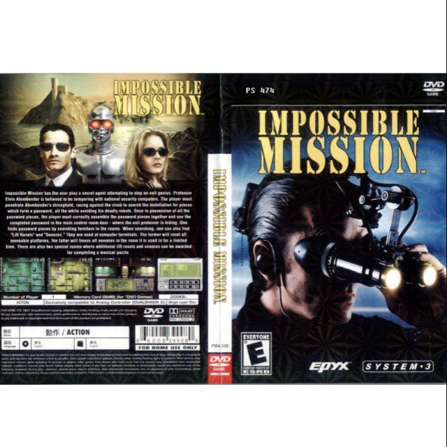 PS2 Games CD Collection Impossible Mission