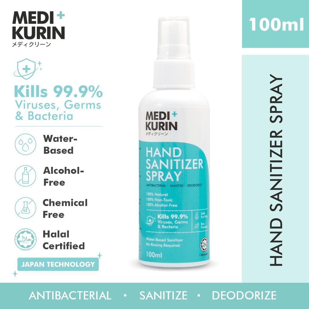 [ 100% NATURAL ] MEDI+KURIN HAND SANITIZER SPRAY 100ml