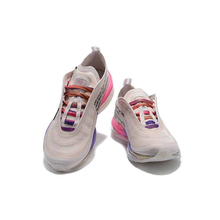 Original New Arrival Authentic Off White x Nike Air Max 97 Queen Women's Running Shoes Sport Sneakers Good Quality AJ4585 600