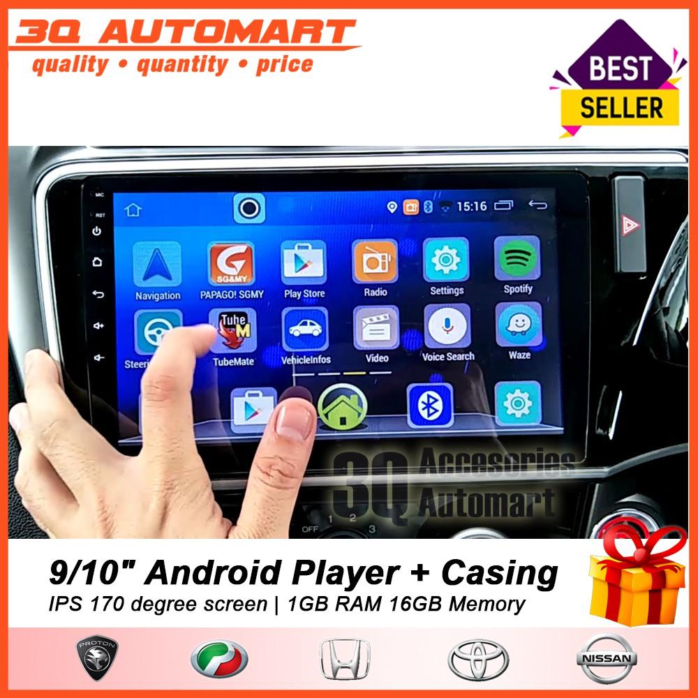 9 /10 inch Android Player HD Wifi GPS 1GB RAM 16GB Memory IPS 172 Degree  Screen For Proton Perodua Honda Toyota Nissan