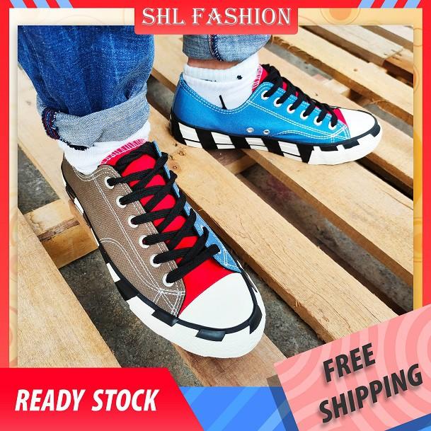 READY STOCK SHL Men Lelaki Sneakers Shoes Kasut Fashion MAN SHOES Casual walking Shoes Kasut Jalan jalan