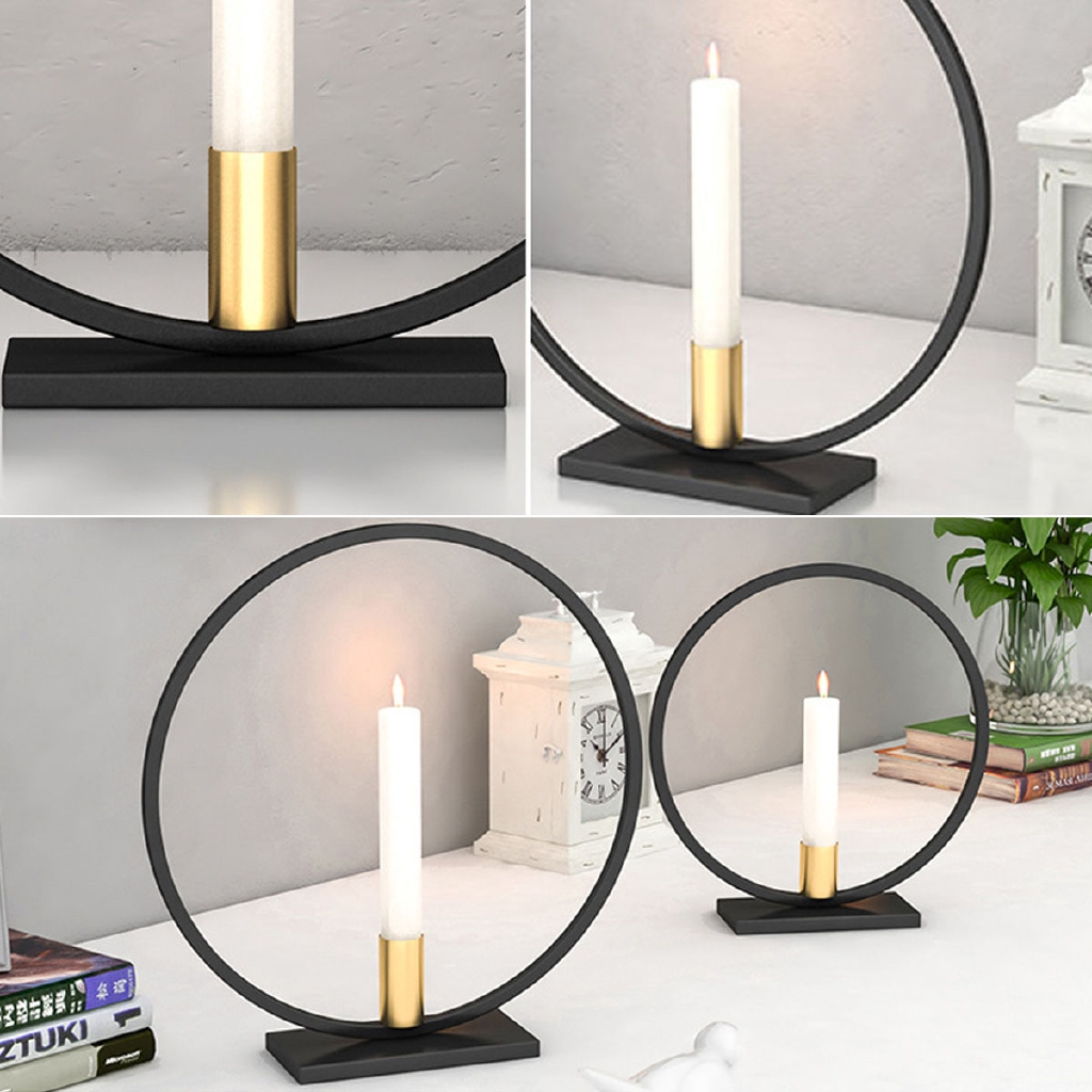 Nordic Style Geometric Candlestick Metal Wall Candle Holder Home Wall Decor Lot