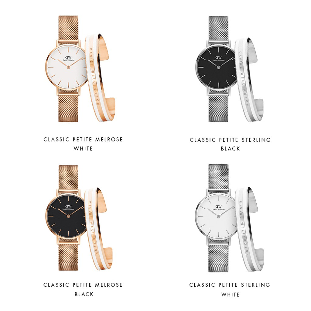 15ca6c0dacc3a Daniel Wellington Original DW Watch Classic Petite Melrose 32mm+Cuff Gift  Set