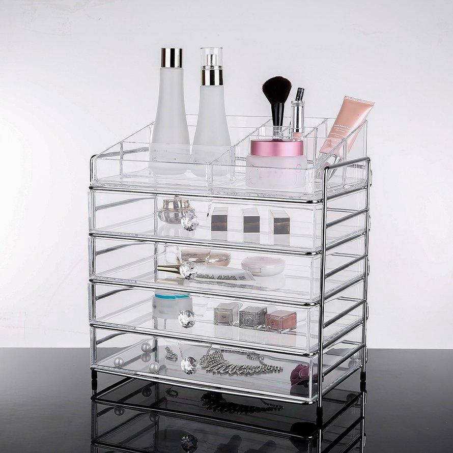 5680693e89d5 E Round Container Storage Box Case Makeup Organizer Cosmetics Cotton Pad Box