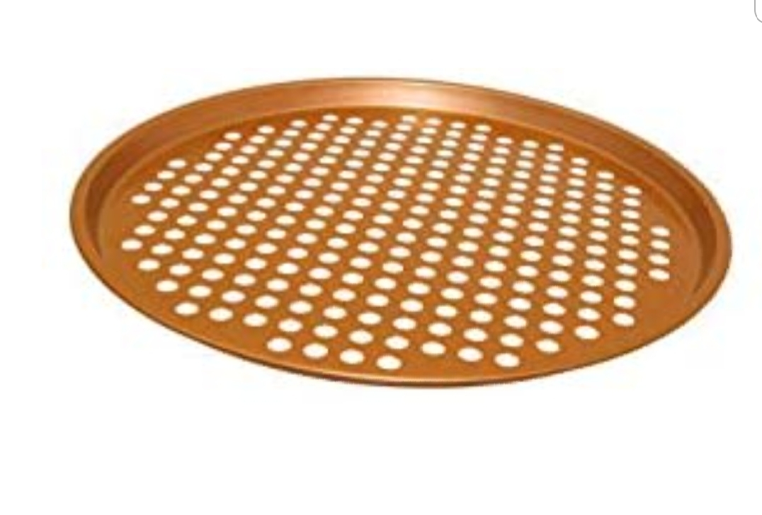 13 Inch Pizza Crisper Pan Carbon Steel Pizza Pan/ Non-Stick Round Pizza Tray with Holes