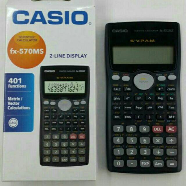 Casio fx 570ms user guide.