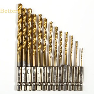 13x Hex Shank Quick change Cobalt Drill Bits Multi Bits 1//4 inch Hex Shank