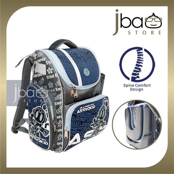 2020 Astrokid Kid Lightweight School Bag Astrokids 3D Foam Cushion Backpack Spine Comfort design AKR-801903-NV Navy Blue