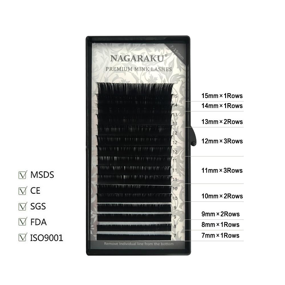 d8961ea80d3 ProductImage. ProductImage. NAGARAKU 16rows/case 7~15mm mix premium natural  synthetic mink