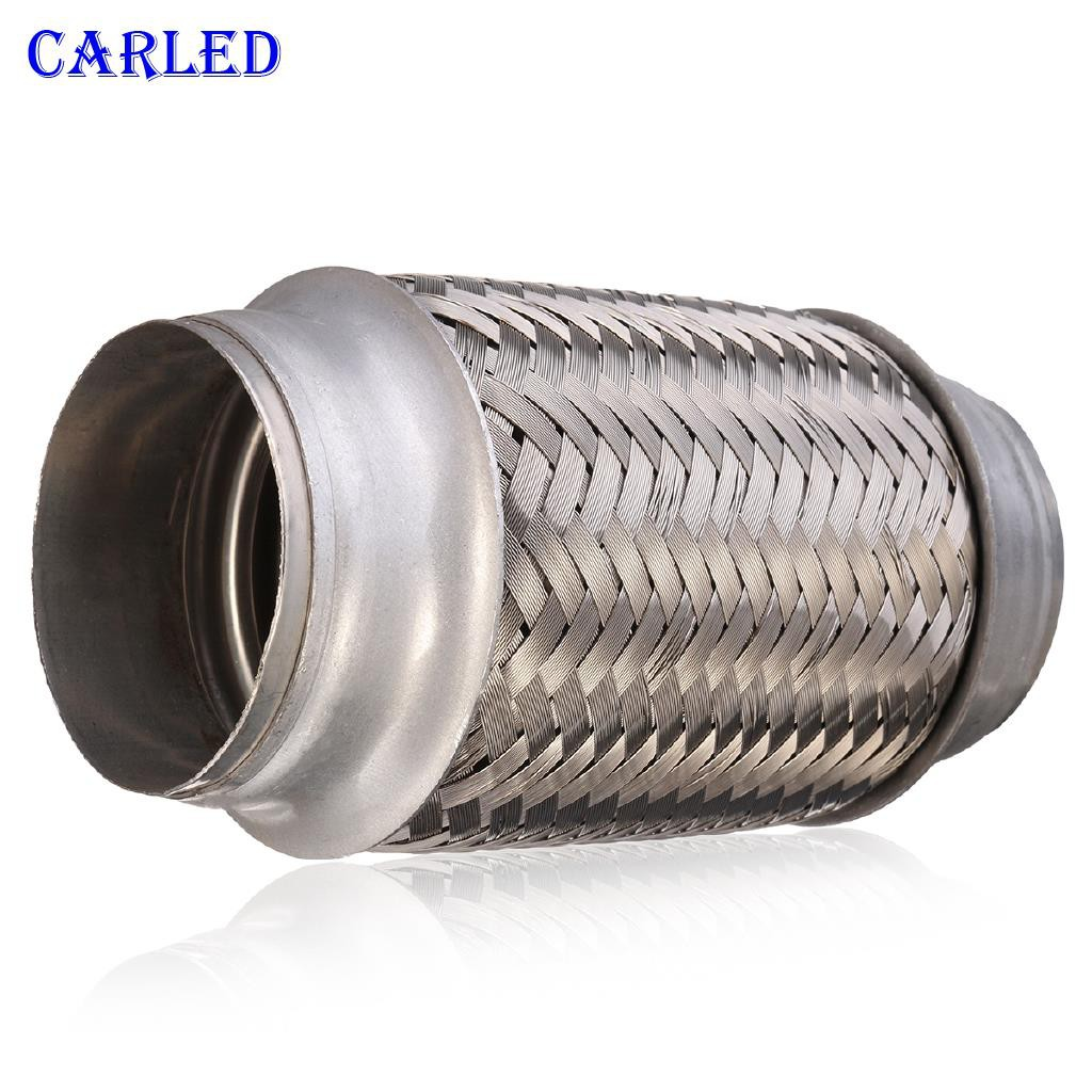 Weld On 2.5 inch X 4 inch Exhaust Flexible Joint Soft Flexi Pipe tube Flex