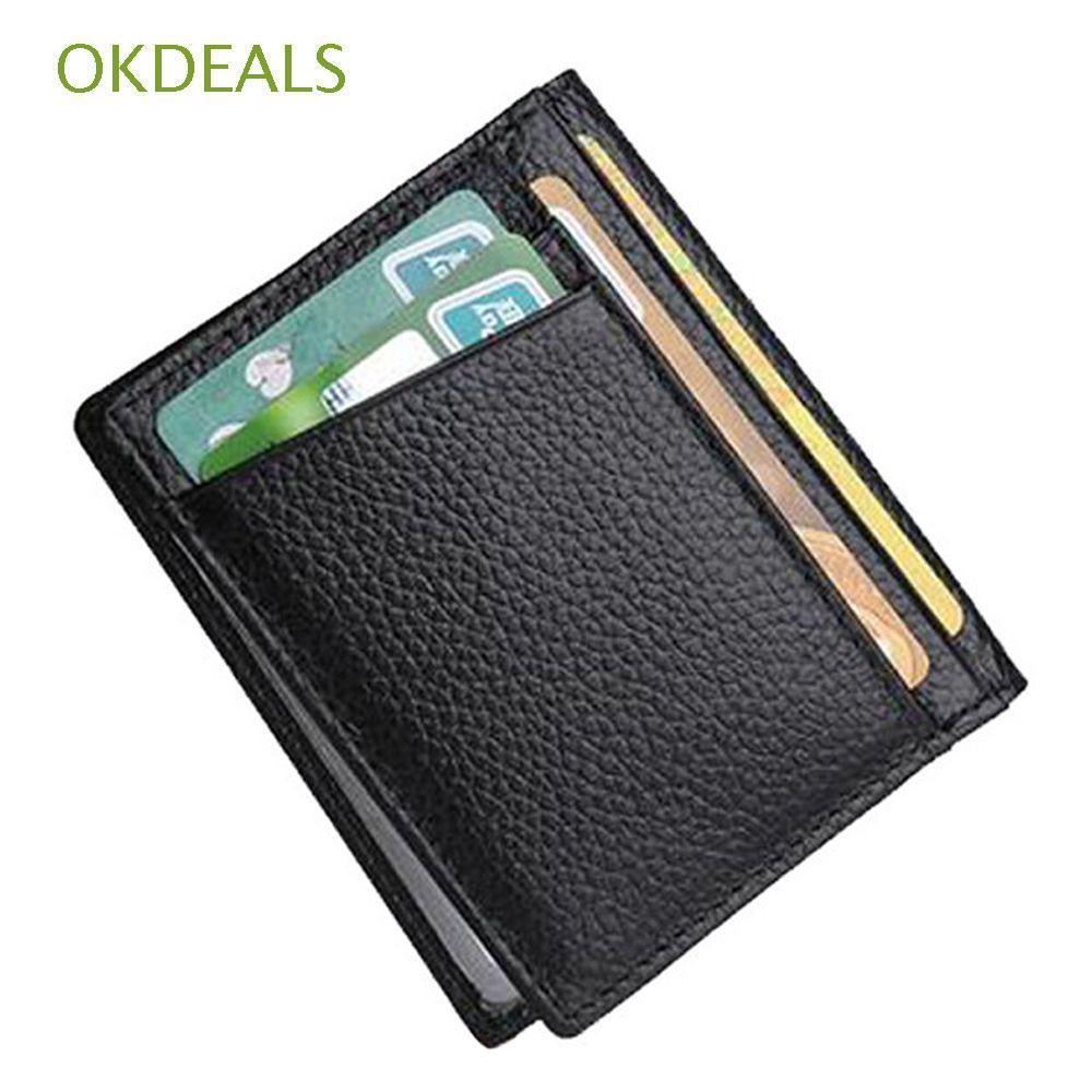 e2537c3eb7 Bifold ID Case Pockets Purse Slim Wallet Money Clip Credit Card Holder