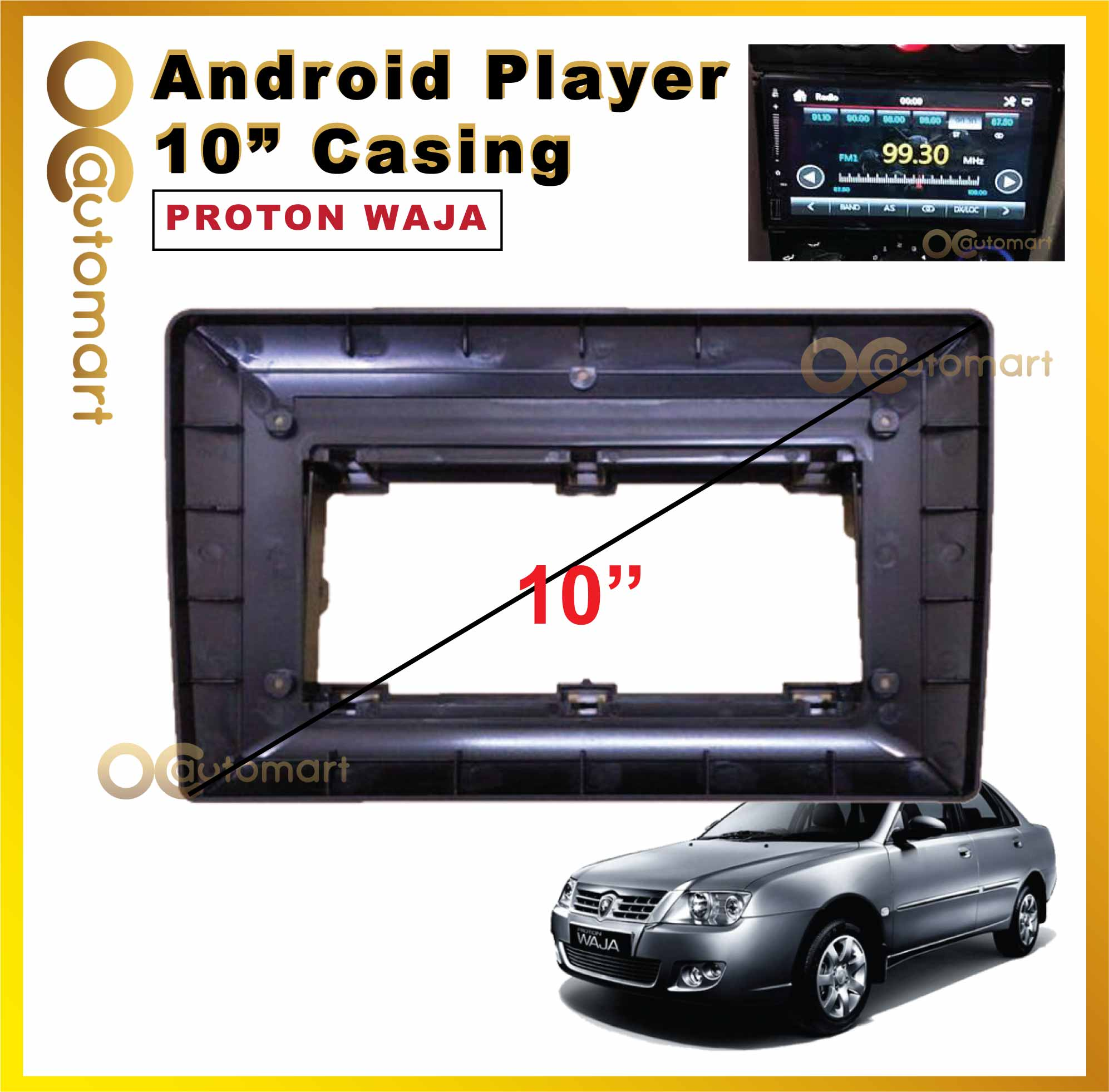 Proton Waja Android Player Casing (10 inch)