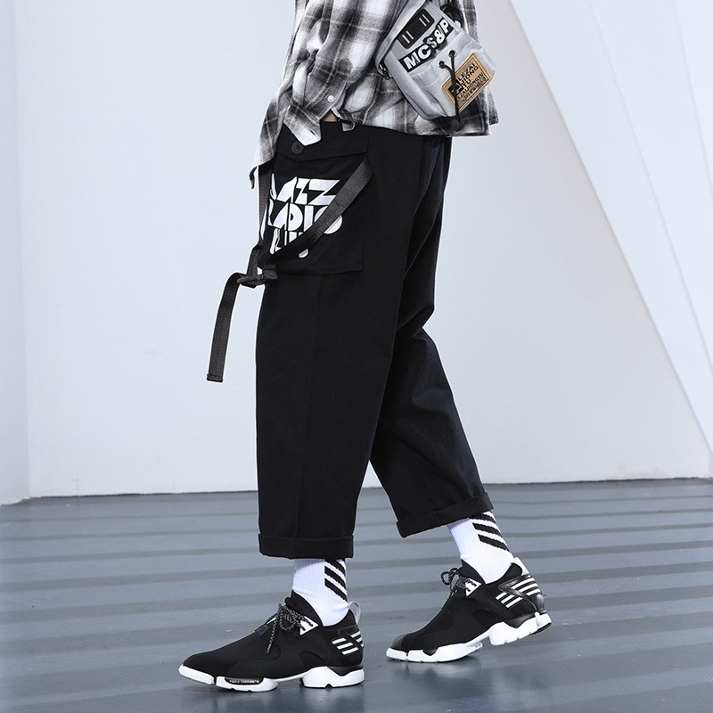 3e3e3c4b8d Loose casual versatile stretch cotton and linen feet Harlan nine pants men  | Shopee Malaysia