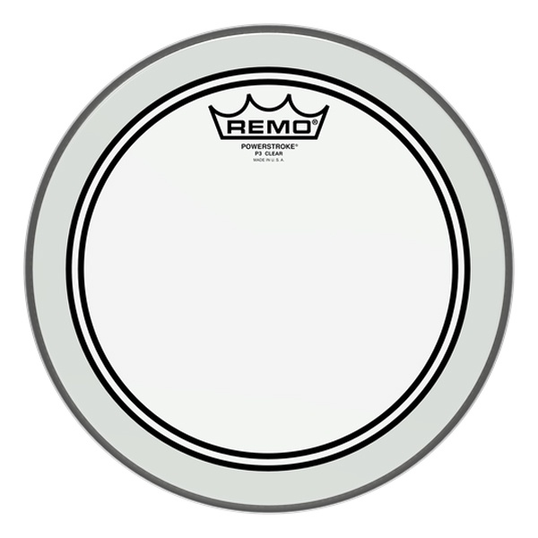 """Remo Drum Skin Powerstroke Clear 10"""" inch ( P3-0310-BP )"""