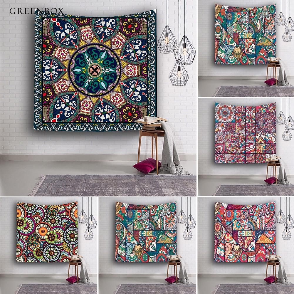 Ethnic Batik Style Floral Lotus Print Scarf Hijab Headscarf Bandana Neckerchief
