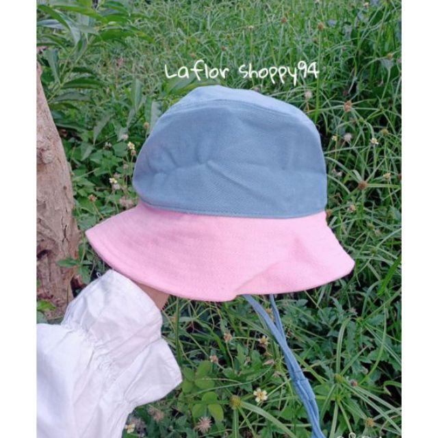 หมวก Bucket👒อะไรจะน่ารักขนาดนี้😍สายคล้องปรับระด