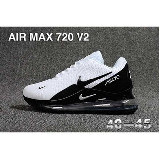 New 2019 Men's Nike Air Max 720 V2 Cushioning Running Shoes White Black