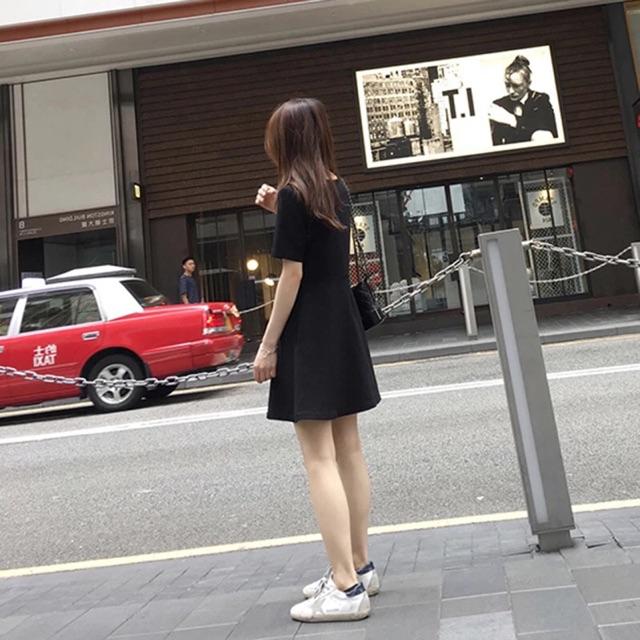 [S~2XL] korean folds cream black dress 新款文艺褶皱奶油裙子仙女显瘦少女心连衣裙小黑裙夏