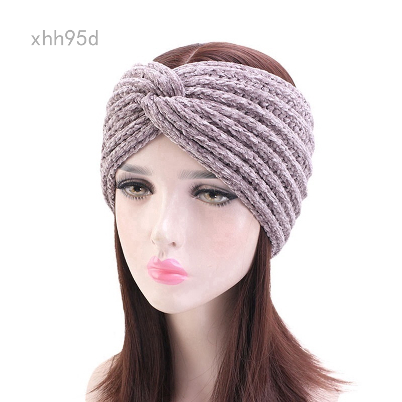 Hand By Hand Floral Knitted Headband Headwrap Rhinestone Warmth
