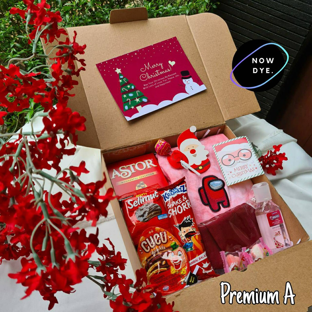 Christmas Package Christmas Gift Christmas Box Snack Box Christmas Hampers Tukar Kado Fill Lots Of Very Shopee Malaysia