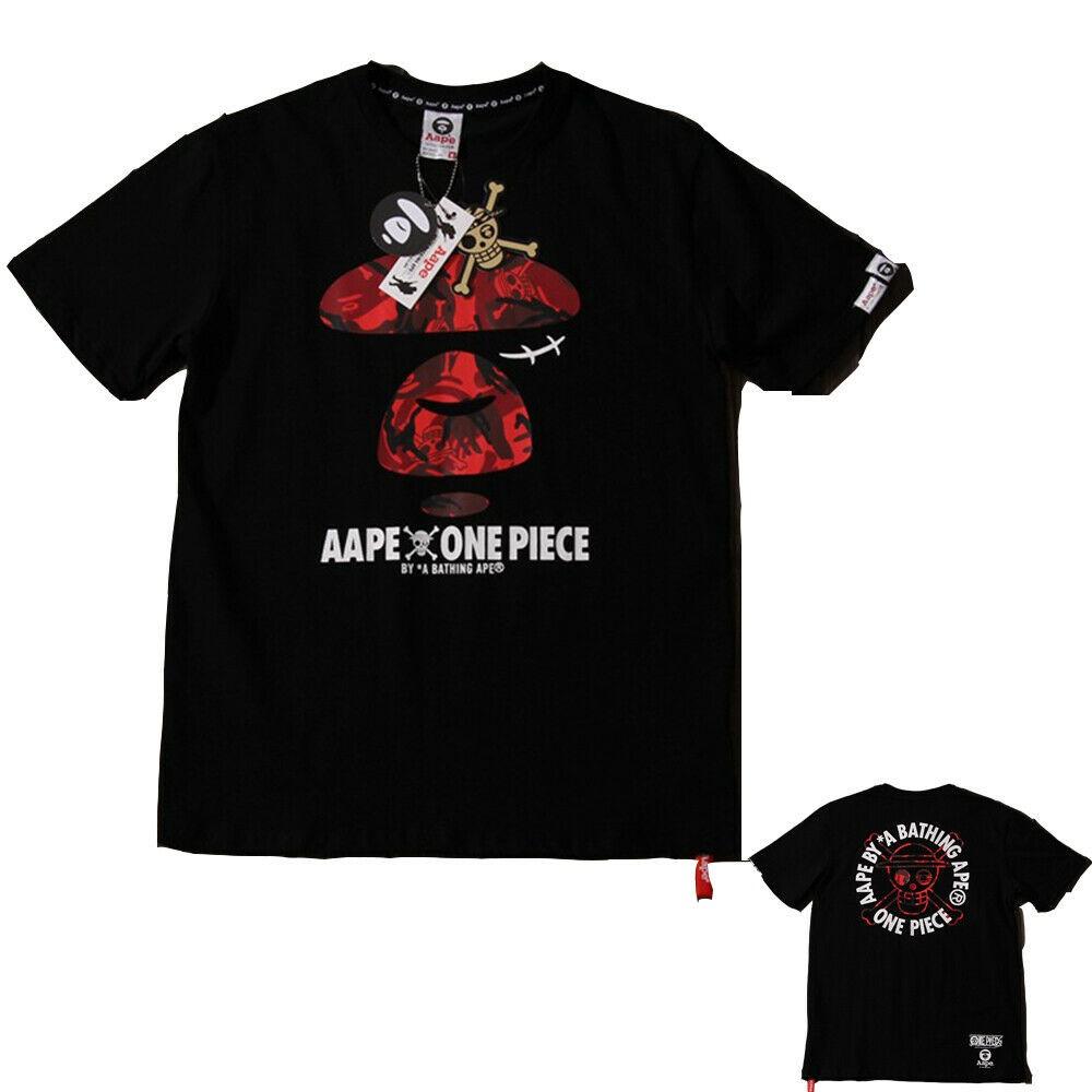 bb0ebb6d Men/Women BAPE A Bathing Ape Head Short Sleeve Tee Cotton Round Collar  T-shirt | Shopee Malaysia