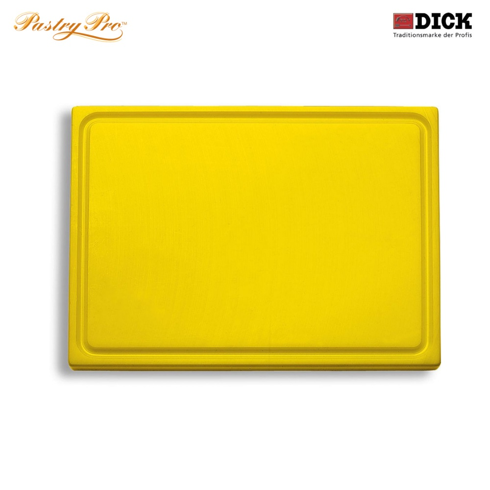 F.DICK, Cutting Board - with juice groove, HACCP Colour Coded, Yellow