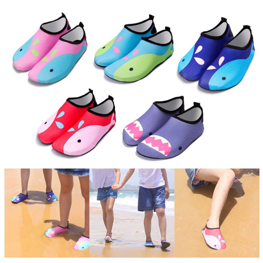 Kid Water Shoes Girl Boy Swim Shoes Barefoot Quick Dry Aqua Shoes Breathable Socks for Beach Pool Surfing Swimming
