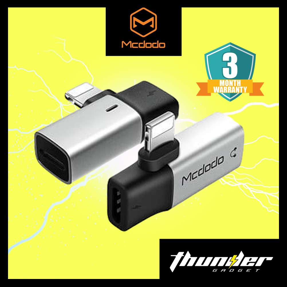 MCDODO CA-6181Mini Dual Lightning Audio Adapter (SILVER)