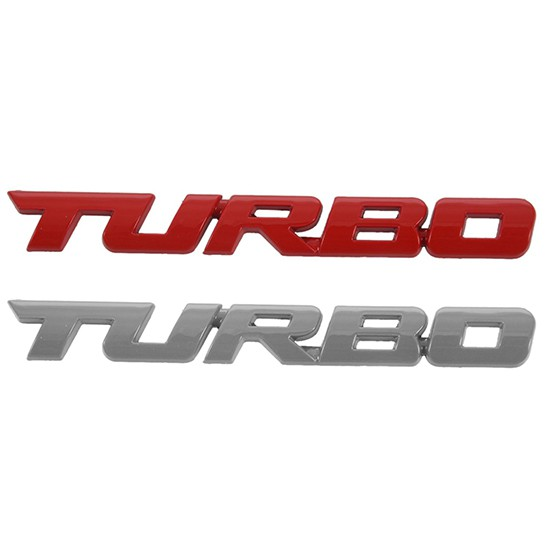 Turbo Universal Car Motorcycle Auto Chrome 3D Metal Emblem Badge Decal Sticker
