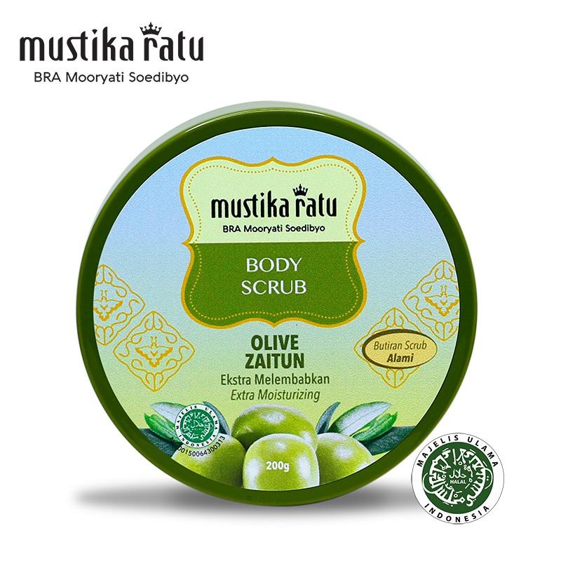 Mustika Ratu Zaitun Body Scrub for moisturize, freshen & glowing skin 200gr