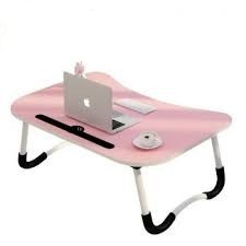 Laptop table Foldable Style A Creative & Smart Multi-functional bedside bed(random color)