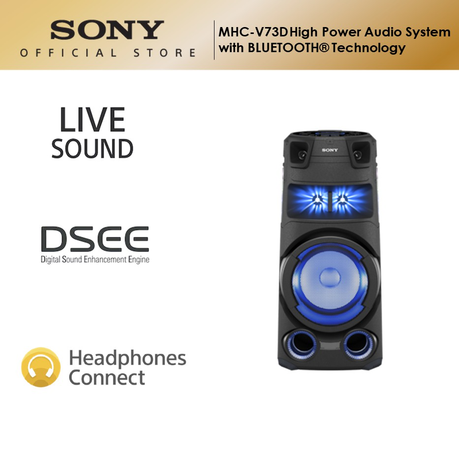 Sony MHC-V73D High Power Audio System with Bluetooth Technology
