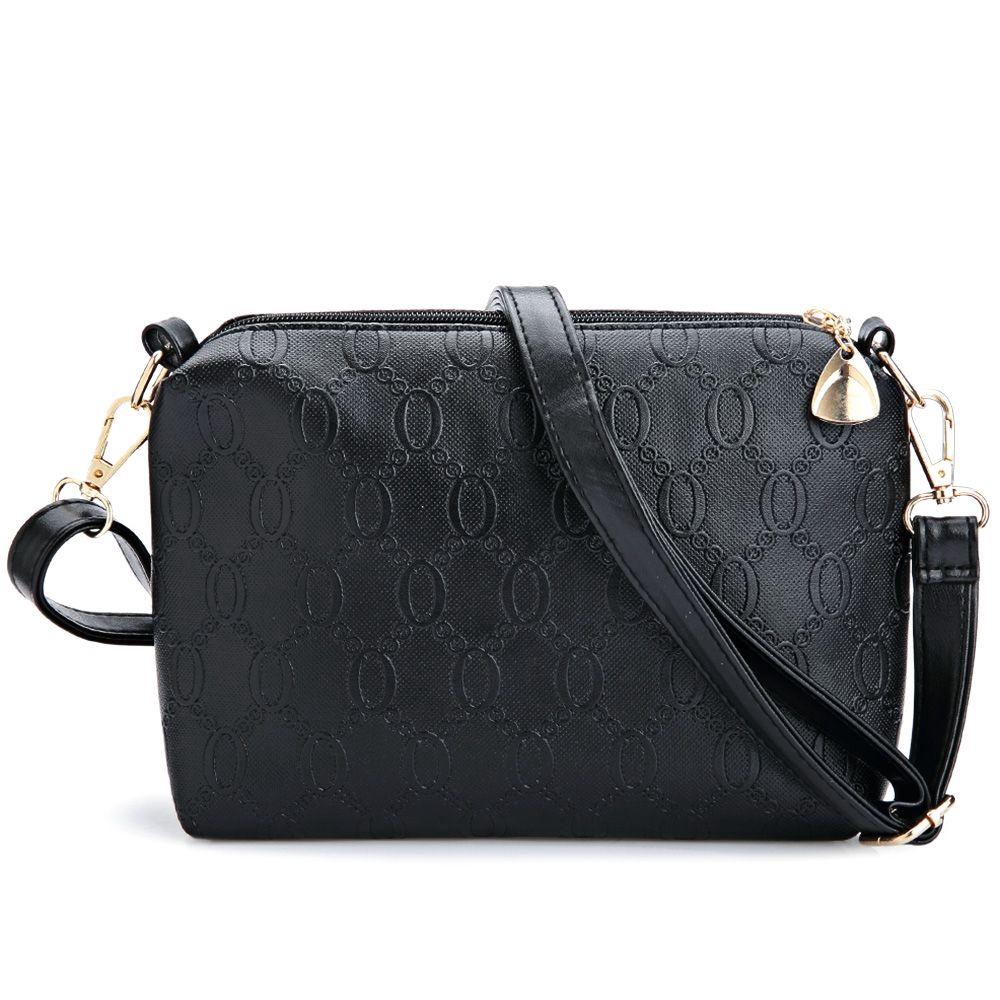 2e0b9944775a WOMEN 3PCS TOTE BAG PU LEATHER HANDBAG PURSE BAGS SET (BLACK)