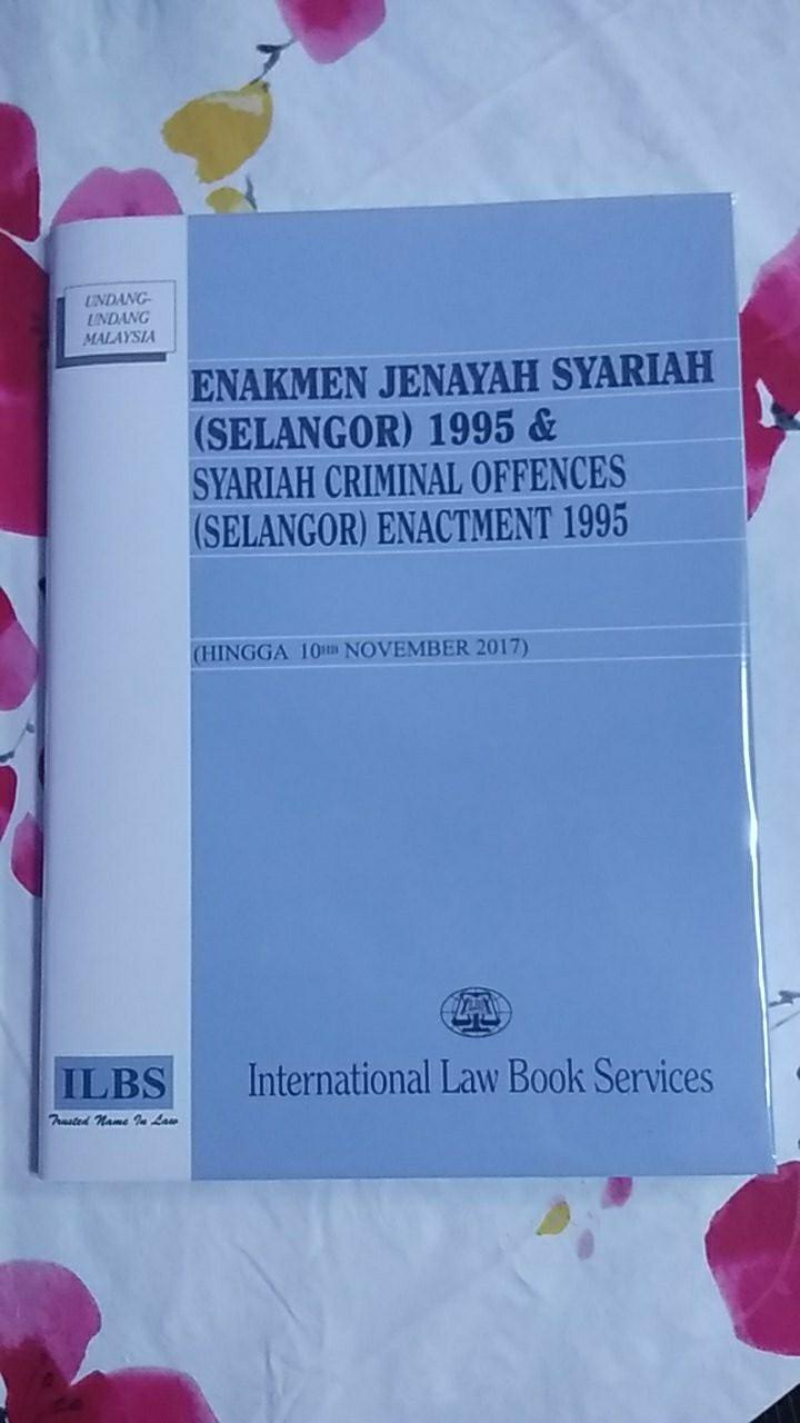 Enakmen Jenayah Syariah Selangor 1995 Hingga 10hb November 2017 Shopee Malaysia