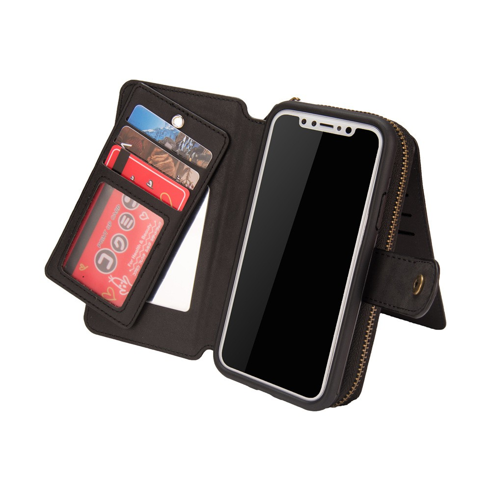 5101dab7b PU Leather Wallet Case for iPhone X XS Max XR 8 6s 7 Plus Card Pocket Flip  Cover | Shopee Malaysia