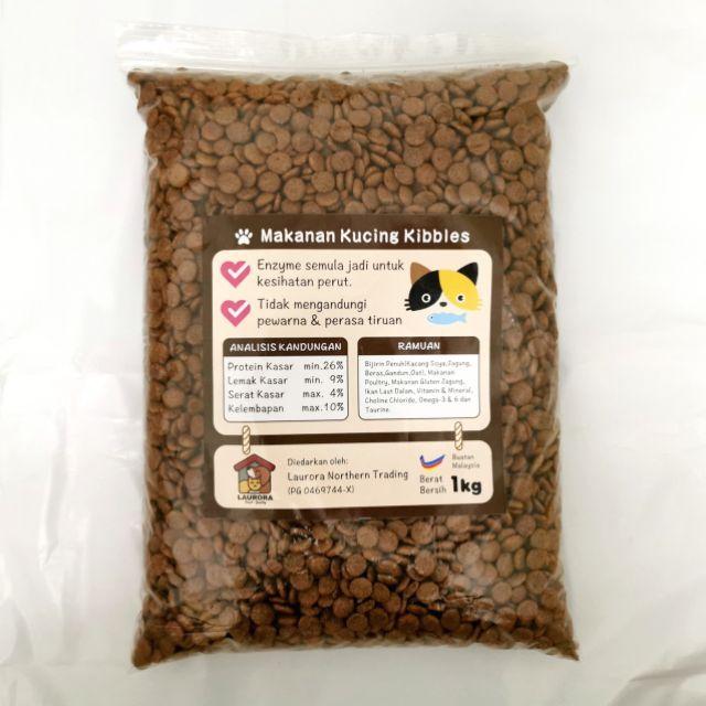 Makanan Kucing Kualiti 1kg Kibbles Cat Food Repack Shopee Malaysia