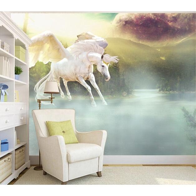 Custom 3d Horse Wallpaper Pegasus Wonderland Background Home