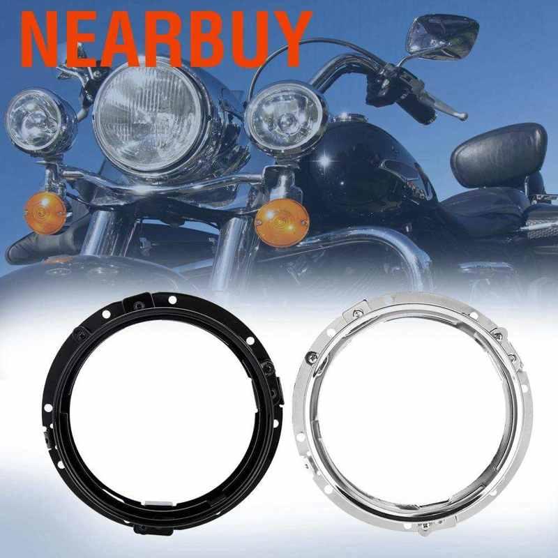 Black Motorcycle Round Ring Bracket,7 inch Car Headlight Round ...