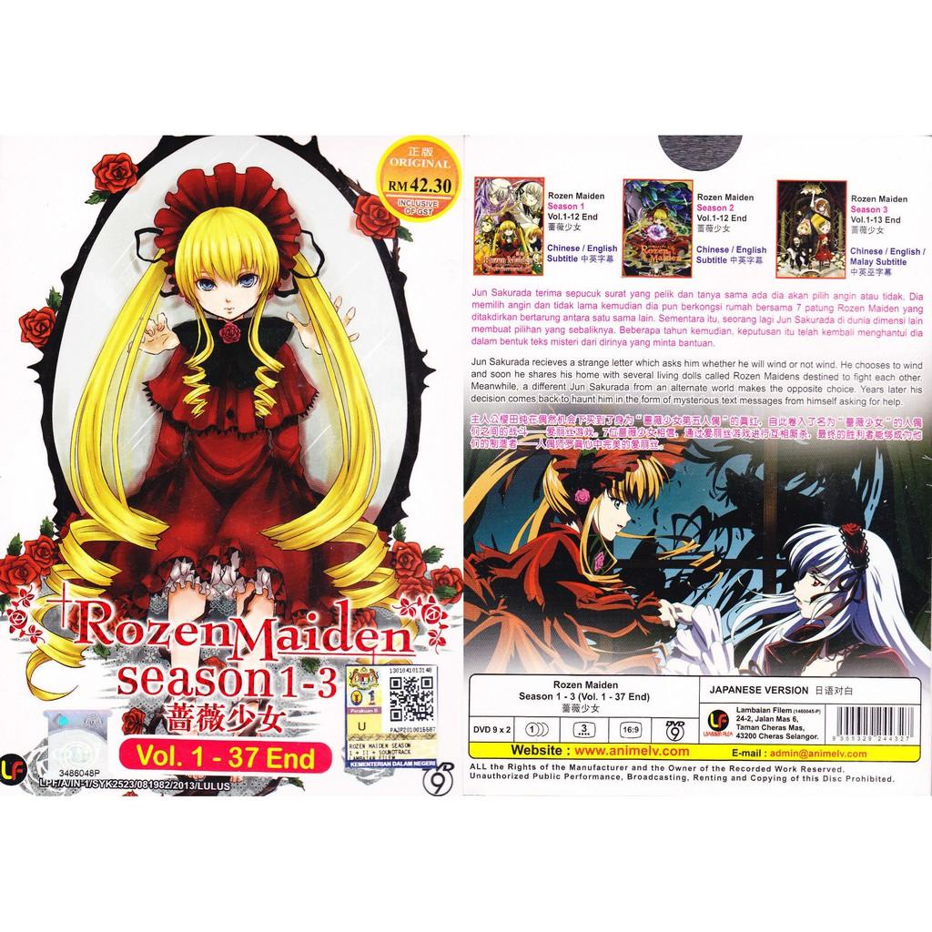 ANIME DVD ~ Rozen Maiden Season 1-3(1-37End)